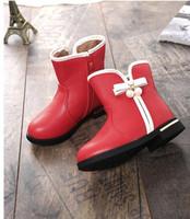 Wholesale Girls Princess Underwear - Girls boots snow boots 2016 winter new girls underwear princess boots plus cashmere thick cotton shoes non-slip