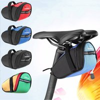Wholesale Bike Back Seat Bag Pannier - HOT Wholesale Roswheel Outdoor Cycling Mountain Bike Bicycle Saddle Bag Back Seat Tail Pouch Package Black Green Blue Red