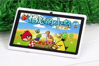 q88 pantalla externa al por mayor-Q88 7 pulgadas tabletas baratas Tablet PC Android 4.4 phable ALLwinner A33 tabletas Quade Core cámara dual 8GB 512MB Wifi capacitivo bluetooth