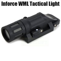 Wholesale Rail Guns - Tactical Flashlight Inforce WML LED Gun light multi-functional light Fits Picatinny 20mm Rails Fiber Composite Black