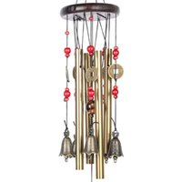 Wholesale Metal Decoration China - Chinese Traditional Amazing 4 Tubes 5 Bells Bronze Yard Garden Outdoor Living Wind Chimes 60cm,Best gift