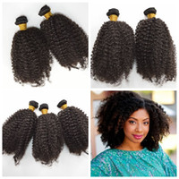 Wholesale indian princess hair - Princess Hair!Brazilian Human Hair Kinky Curly Extensions Weaves 6Pcs Unprocessed afro curly Human Hair Bundles G-EASY