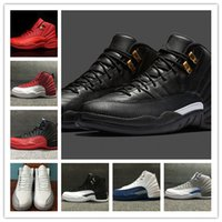 Wholesale Game Trainers - Wholesale 2016 air retro 12 flu game the master GS Barons men women basketball sports shoes sneakers TRAINERS high quality cheap size 36-47