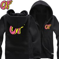 Wholesale Wolf Pillows - Wholesale-free shiping 2016 New Odd Future Wolf Gang OFWGKTA Golf Wang HIPHOP brushed cotton zipper hoodie men hoodies