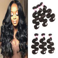 Wholesale Bella Weave - Bella 8A Brazilian Virgin Hair Body Wave 3 4pcs Lot Peruvian Malaysian Filipino Brazilian Human Hair Weave Bundles Natural Color Dyeable