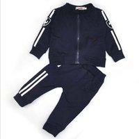 Wholesale Set Pcs Autumn Cardigan - baby girl and boy sport suit kids sets coat and pant 2 pcs set children tracksuits cardigan pure cotton suits 2016 spring autumn.