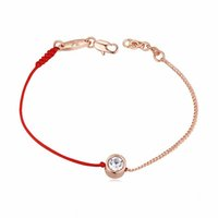 Wholesale Thin Bracelets Crystal - Wholesale-Crystal From austrian jewelry thin red thread string rope Charm Bracelets for women Fashion New sale Top Hot summer 117884