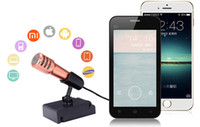 Wholesale 2016 Unique Design Mini Smartphone Microphone Sing Song Microphone for PC iPhone iPad Android Tablets Smartphone