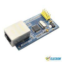 Wholesale Ip Electronics - Wholesale-New W5500 Ethernet Module Network Hardware TCP  IP 51  STM32 Microcontroller Program Over W5100 Electronic DIY Kit 1Pcs