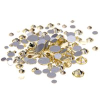 Wholesale diamonds hotfix - Jonquil SS3-SS10 And Mixed Sizes Non Hotfix Crystal Rhinestones Flatback Glue On Strass Glass Diamonds DIY Nails Art Accessories