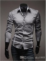 2016 Mens Fashion Luxury Stylish Casual Designer Kleid Shirt Muscle Fit Shirts 3 Farben 5 Größen