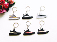 Wholesale Sneaker Mini - Mini Silicone Shoes Keychain Bag Charm Woman Men Kids Key Ring Key Holder Gift SPLY-350 Sneaker Key Chain Free Shipping