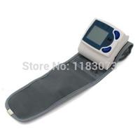 Wholesale Blood Pressure Machine Wholesale - Digital LCD Wrist Arm Cuff Blood Pressure Monitor Heart Beat Meter Machine Gauge Tester Sphygmomanometer 20pcs lot Free Shipping