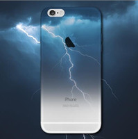 Wholesale ocean case online - For iphone Half Clear TPU Scenery Case Lightning Starry Sky Meteor Mountain City Ocean View Back Skin Soft Phone Cover for iphone s Plus