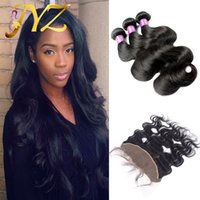 Wholesale Brazilan Hair - Fast Delivery Brazilian Virgin Human Hair Lace Frontal With Bundles Natural Color Brazilan Hair Body Wave With 13X4 Human Hair Lace Frontal
