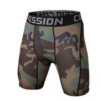 ingrosso corti di compressione da surf-All'ingrosso-GYM Mens Compression Shorts 2016 Estate Camouflage Sport Bermuda Surf Correre Pantaloncini da basket Uomini Bodybuilding Shorts