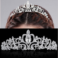Wholesale Wholesale Fashion Headbands For Women - New Wedding party jewelry Crystals Bridal Tiaras for women engagement Tiara Crown Headband Hair Accessories Fashion Luxury Jewelry
