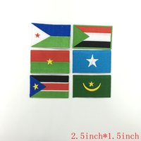 Wholesale Country Patch - Gambia Guinea Bissau lesotho Liberia Malawi Mali Mauritius Niger namibia Morocco nation Africa countries flag patch