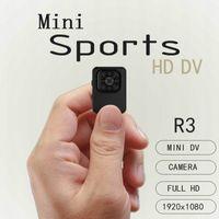 nova mini bicicleta venda por atacado-Nova 8LED Noite Versão Mini Câmera 12MP DVR Carro Detecção de Movimento R3 HD 1080 P 30fps Gravador de Vídeo TV-out Bicicleta Camcorder