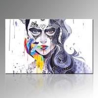 изображения панелей оптовых-Горячая девушка изображение абстрактная живопись Home Decor холст картины одна панель украшения дома стены висит для гостиной Декор без рамы