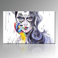 images panel paintings 도매-뜨거운 소녀 이미지 초록 그림 홈 장식 캔버스 회화 한 패널 홈 장식 벽 거실 장식을위한 Unframed