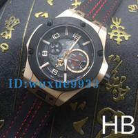 Wholesale Watch Leahter - Men's luxury brand fashion watches men 18k gold case F1 king power watch quartz chronograph watches leahter band men dive wristwatches