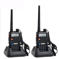 Wholesale Ham Radio Set Two Way - Wholesale-2pcs Original Baofeng UV 5R Portable Dual band VHF UHF two way radio 136-174 400-520 ham cb radio uv-5r Walkie Talkie 2 pcs  set