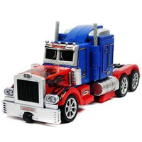 Wholesale Transformation Truck Toy - Wholesale-New Transformation Remote Control Robot Deformation Robots Action Figures Robot Truck RC truck electronic Toys