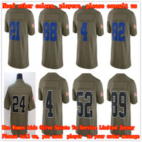 Wholesale Women Red Service - MEN Women kids Dak Prescott 4 Derek Carr 89 Amari Cooper 24 Marshawn Lynch 21 Ezekiel Elliott Olive Salute To Service Limited Jersey