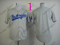 Wholesale Blank Baseball Shirts - Cheap Los Angeles Dodgers LA Blank Baseball Jerseys No Name No Number White Blue Gray Men's Sport Shirts,Fast Delivery