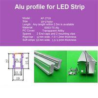Wholesale Aluminium Floor Strip - 10m 10X1m 40inch 19*27mm ultra high embedded led aluminium profile for floor,inground ,led bar light for 12mm strip