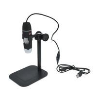 liderliğindeki kamera dijital mikroskop usb toptan satış-50 X 500 X USB LED Dijital Elektronik Mikroskop Büyüteç Kamera Siyah Dünya Çapında Sıcak Damla