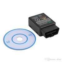 Wholesale Elm 327 Cable Bluetooth Obdii - Mini ELM327 V2.1 Bluetooth HH OBD Advanced OBDII OBD2 ELM 327 Auto Car Diagnostic Scanner Code Reader Scan Tool