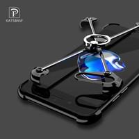 apfel geformter iphone fall großhandel-Oatsbasf X Form Fall für Iphone 6s Fall Persönlichkeit Shell für Iphone 6s Plus 7 Plus Metallgrenze Metallstoßring-Halter-Fälle