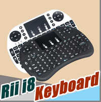 Wholesale Remote Control Pc Media - Wireless Keyboard rii i8 keyboards Fly Air Mouse Multi-Media Remote Control Touchpad Handheld With Battery for TV BOX Android Mini PC B-FS