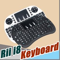 Wholesale Wireless Keyboard rii i8 keyboards Fly Air Mouse Multi Media Remote Control Touchpad Handheld With Battery for TV BOX Android Mini PC B FS