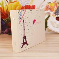 foto de bricolaje etiqueta de la esquina al por mayor-Corner Album de fotos publicado 10 pulgadas 25 papel París en la lluvia Diseño creativo pegatinas DIY Scrapbooking 9zo F R