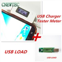 Wholesale Dip Meters - Wholesale- LCD USB Mini Voltage and Current Detector Mobile Power USB Charger Tester Meter + USB mini discharge load resistor