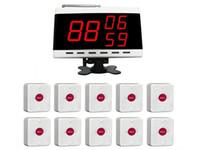 mostrar paginador al por mayor-SINGCALL. Timbre del sistema de llamada de conferencia, llamada de ayuda de llamada de enfermera, paquete de 10 unidades de buscapersonas y receptor de pantalla de 1 PC
