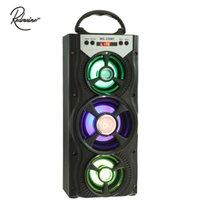 rádio usb sd venda por atacado-Atacado-Redmaine MS-220BT Portátil Multifuncional USB AUX Bluetooth Speaker Rádio FM Backlight Suporte 3.5mm Plugue Micro SD Card U-disco