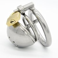 Wholesale Gimp Chastity - Latest Design Stainless steel Male Boundage chastity Shortest Cage Urethral Tube Gimp GAY Fetish A127