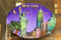 souvenir di viaggio Stati Uniti, New York City Tourist Souvenir 3D Resina Magnete frigo Craft IDEA REGALO