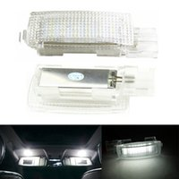 camion panneau led achat en gros de-Erreur gratuit LED intérieur miroir de courtoisie lampe de voiture de lumière pour VW EOS GOLF5 6 GOLF PLUS JETTA PASSAT POLO SCIROCCO SIÈGE TIGUAN