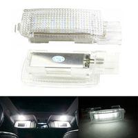 ingrosso bianco tiguan-Errore Free LED Interni Vanity Mirror Visor Light Car Lamp Per VW EOS GOLF5 6 GOLF PLUS JETTA PASSAT POLO SCIROCCO SEDILE TIGUAN