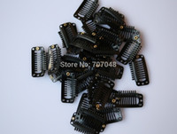 Wholesale Black Wigs Wholesale Price - Wholesale price 20pieces lot Black color 9-teeth Large Hair Clips Wigs Clip hair extension clips hair clips