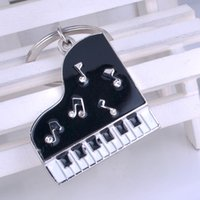 Wholesale Manufacturer Key - Wholesale manufacturers selling keychain music novelty items gifts drill glue piano key button metal llaveros car key chains pendant