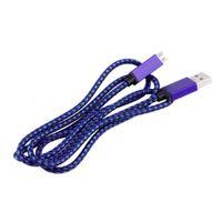 ячейка v8 оптовых-Плетеный микро USB кабель для передачи данных V8 зарядное устройство шнуры для мобильного телефона оптом