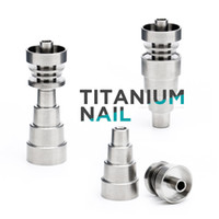 14mm 19mm titanyum çivi toptan satış-6 Farklı Türleri Domeless Titanyum Tırnak 10mm 14mm 19mm Erkek Femal Ortak 2 in 1/4 in 1/6 in 1