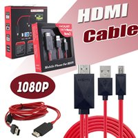 Wholesale Usb Digital Converter - HDMI Cable Full HD 1080P Micro USB MHL (11pin) To HDMI Adapter Converter Mobile Phone Digital Cable For Samsung S5 S4 Note 3 2 With Package
