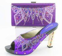 Wholesale Matching Shoe Bag Purple - VIVILACE SG16-101-2 Fashion african Shoes and Bag Matching Set Ladies Shoes and Bag for party,FREE SHIPPING For 8 color